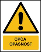 Slika W001 - OPĆA OPASNOST (CS-OP-001)