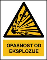 Slika W002 - OPASNOST OD EKSPLOZIJE (CS-OP-005)