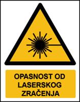 Slika W004 - OPASNOST OD LASERSKOG ZRAČENJA (CS-OP-011)