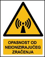 Slika W005 - OPASNOST OD NEIONIZIRAJUĆEG ZRAČENJA (CS-OP-042)
