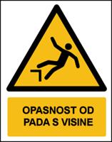 Slika W008 - OPASNOST OD PADA S VISINE (CS-OP-016)
