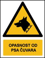 Slika W013 - OPASNOST OD PSA ČUVARA (CS-OP-052)