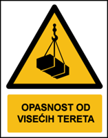 Slika W015 - OPASNOST OD VISEĆIH TERETA (CS-OP-009)