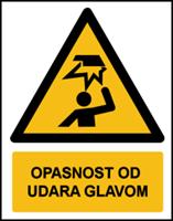 Slika W020 - OPASNOST OD UDARA GLAVOM (CS-OP-027)