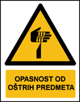 Slika W022 - OPASNOST OD OŠTRIH PREDMETA (CS-OP-122)