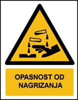 Slika W023 - OPASNOST OD NAGRIZANJA (CS-OP-004)