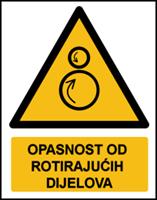 Slika W025 - OPASNOST OD ROTIRAJUĆIH DIJELOVA (CS-OP-012)