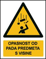 Slika W035 - OPASNOST OD PADA PREDMETA S VISINE (CS-OP-015)
