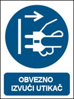 Picture of M006 - OBVEZNO IZVUĆI UTIKAČ (CS-OB-106)