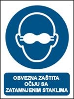 Picture of M007 - OBVEZNA ZAŠTITA OČIJU S ZATAMNJENIM STAKLIMA (CS-OB-107)
