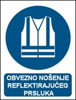 Picture of M015 - OBVEZNO NOŠENJE REFLEKTIRAJUĆEG PRSLUKA (CS-OB-046)