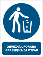 Picture of M030 - OBVEZNA UPORABA SPREMNIKA ZA OTPAD (CS-OB-130)