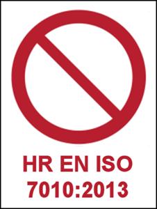 Picture for category Znakovi zabrane prema HRN EN ISO 7010:2013