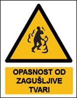 Slika CS-OP-014 - OPASNOST OD ZAGUŠLJIVE TVARI