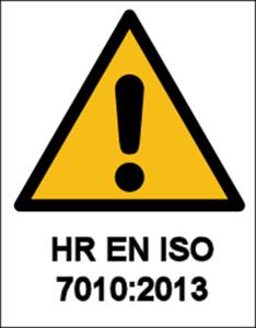 Logo za kategoriju Znakovi opasnosti prema HRN EN ISO 7010:2013