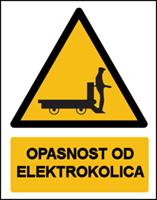 Slika CS-OP-021 - OPASNOST OD ELEKTROKOLICA