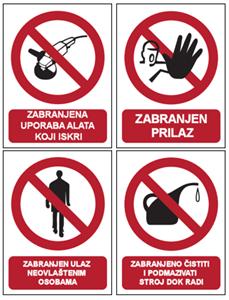 Picture for category Ostali znakovi zabrane (provjereni u praksi)