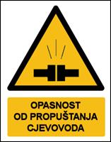 Slika CS-OP-022 - OPASNOST OD PROPUŠTANJA CJEVOVODA