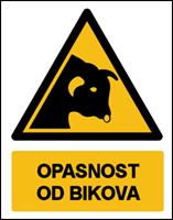 Slika W034 - OPASNOST OD BIKOVA (CS-OP-134)