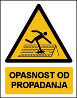 Slika W036 - OPASNOST OD PROPADANJA (CS-OP-136)
